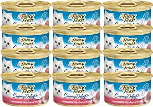 Fancy Feast Purina Creamy Delights Salmon Feast with a Touch of Real Milk (NET WT 3 OZ Each)