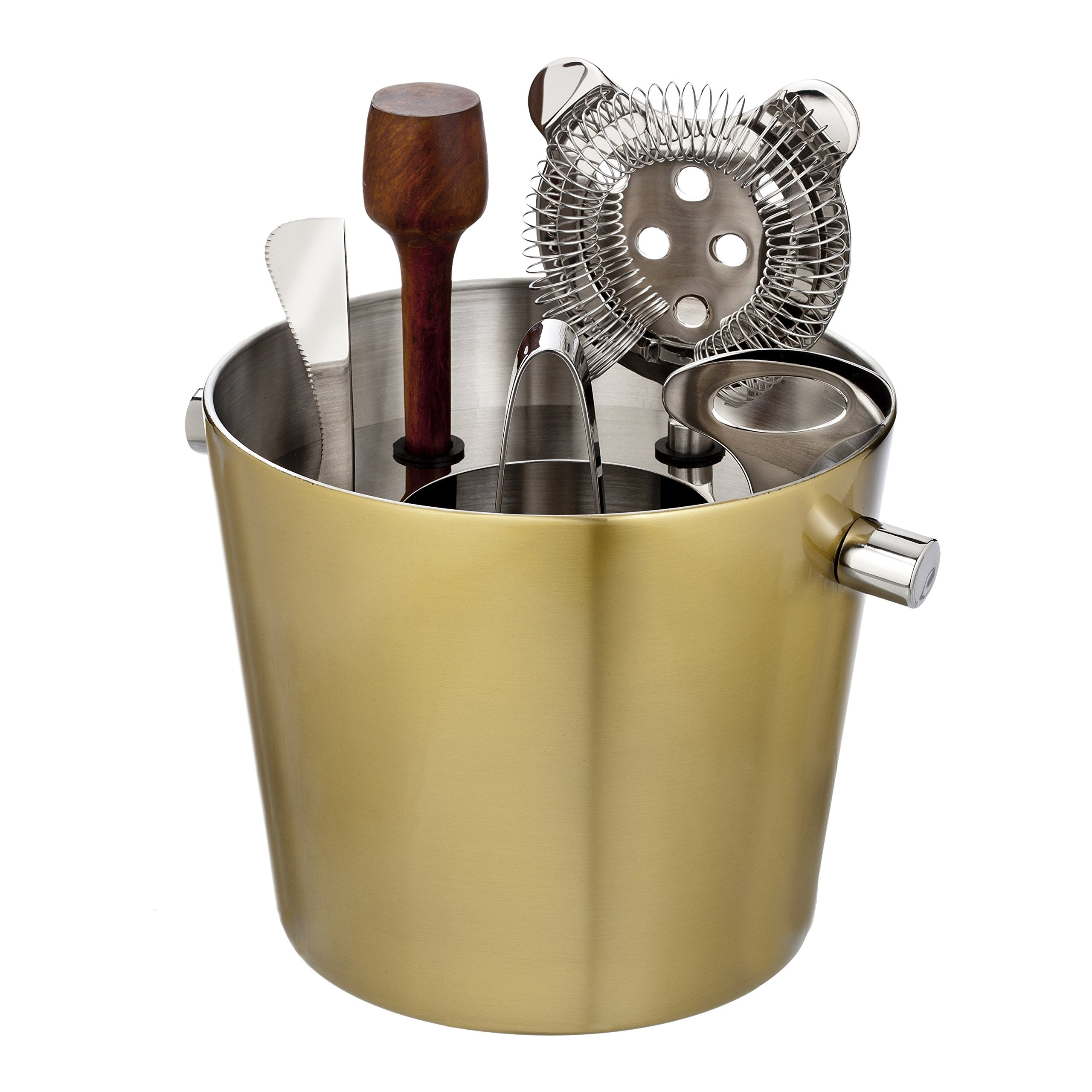 Marquis by Waterford Vim and Vigor Bar Tool Set, Gold