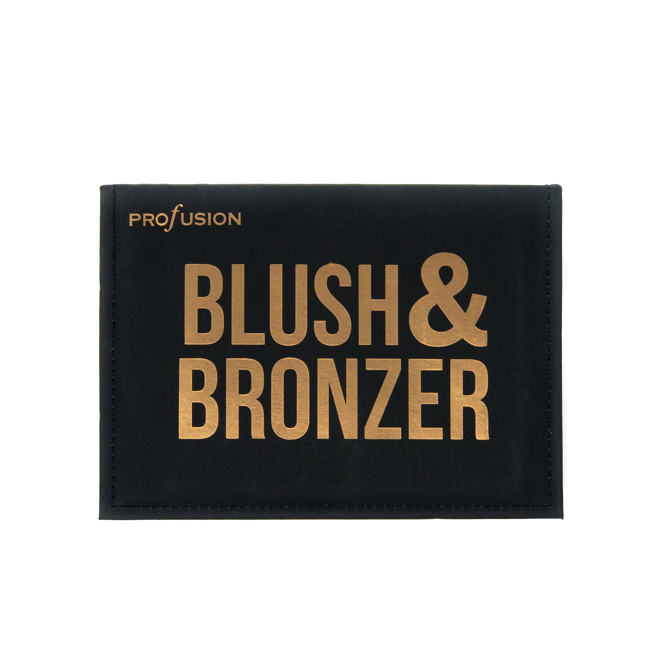 Profusion Cosmetics - Blush & Bronzer - Professional 8 Color Palette Makeup Kit Blush Highlighter Bronzer - Nude Highlight Champagne Highlight Light Bronze Shadow Bronze Pink Warm Peach Rose Pink by Profusion Cosmetics (Image #7)