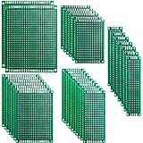 ELEGOO 32pcs PCB Prototype Carte de Circuit Imprimé à Double Faces pour Arduino Board DIY 5 Tailles[2X8cm 3X7cm 4X6cm 5X7cm 7X9cm]