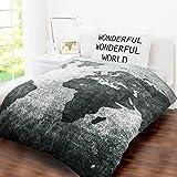 Ben de lisi home multicoloured printed world explorer bedding single bed size childrens kids teenage boys girls quilt duvet cover and pillow case bedding set gumiabroncs Images