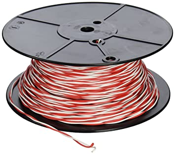 Woods 5407 Bell Wire, Solid Twisted, 18/2, 500-Feet - Electrical ...