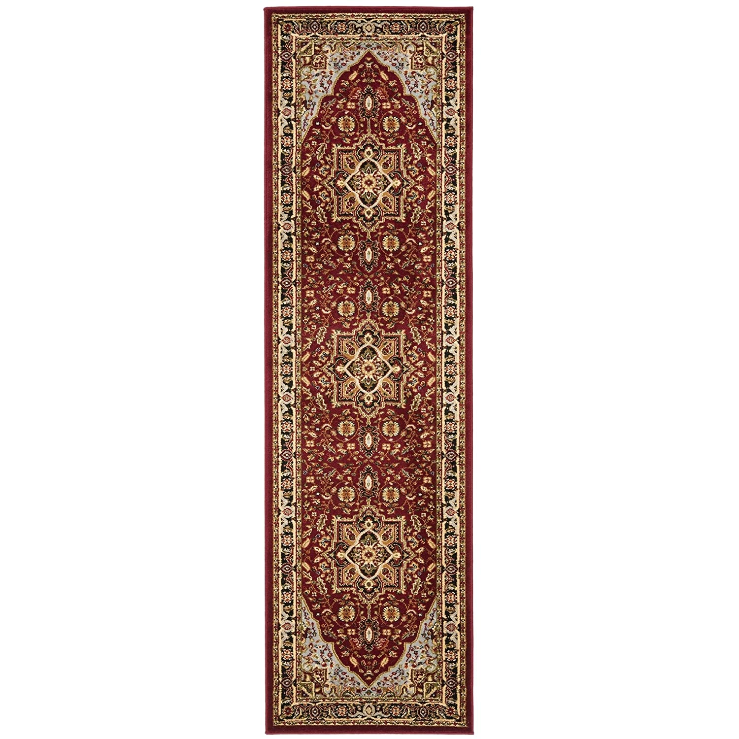 Safavieh Lyndhurst Collection LNH330B Red and Black Runner, 2 feet 3 inches by 6 feet (2'3 x 6') LNH330B-26