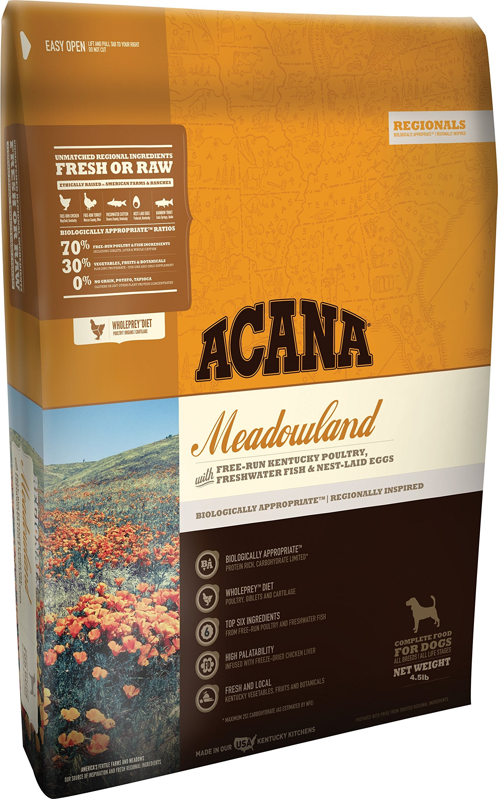 Acana Regionals Meadowland for Dogs, 4.5 pounds