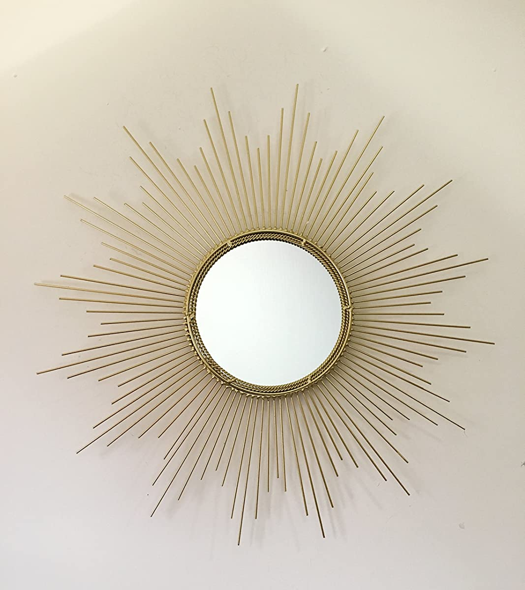 Decorative Starburst Mirror,Bathroom Mirrors Contemporary Metal Wall Hanging Mirror in Sunburst Shape (Drop Mirrors) MD102