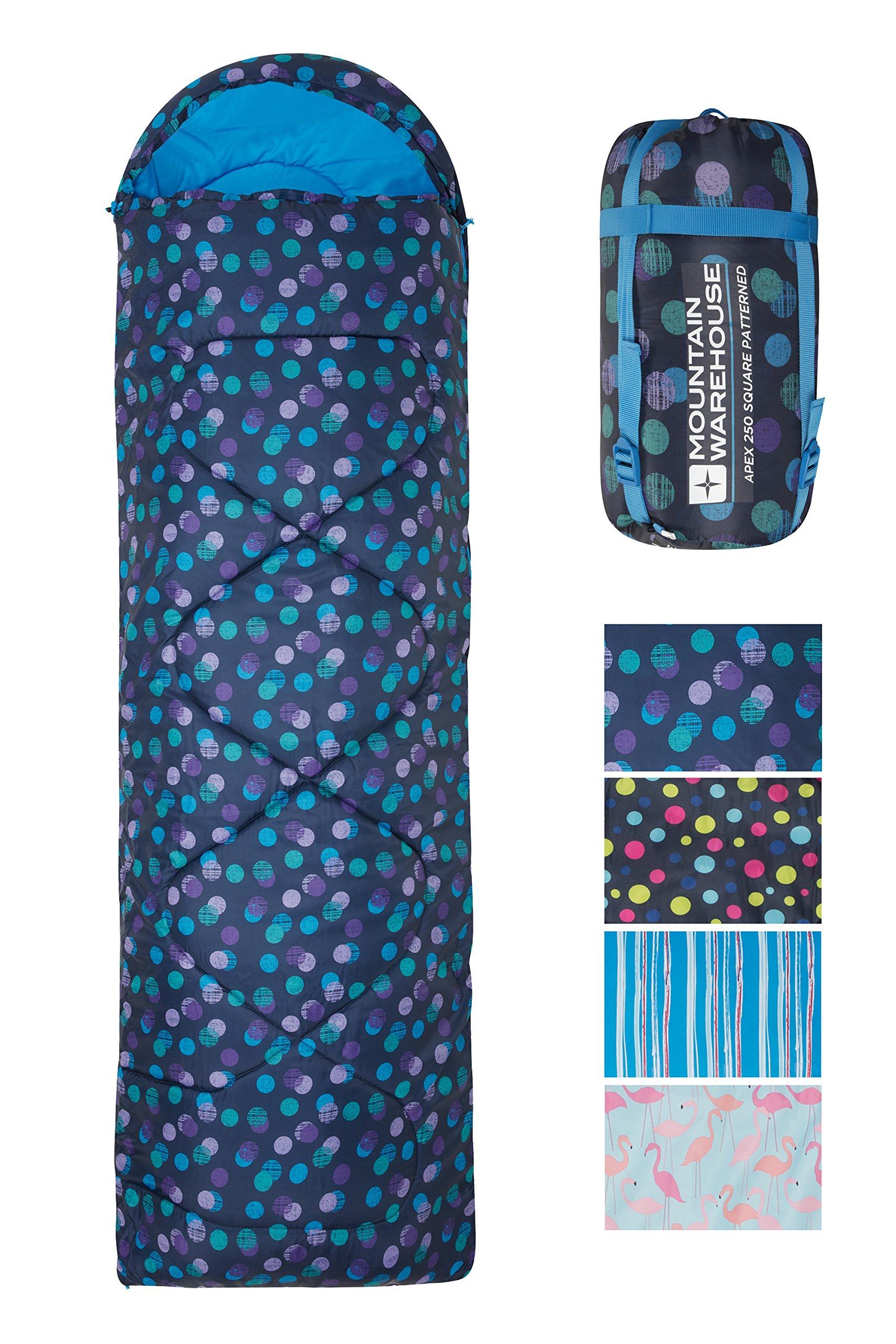 Mountain Warehouse Saco de Dormir Tipo Rectangular Apex 250 - Saco de Acampada con Cremallera bidireccional