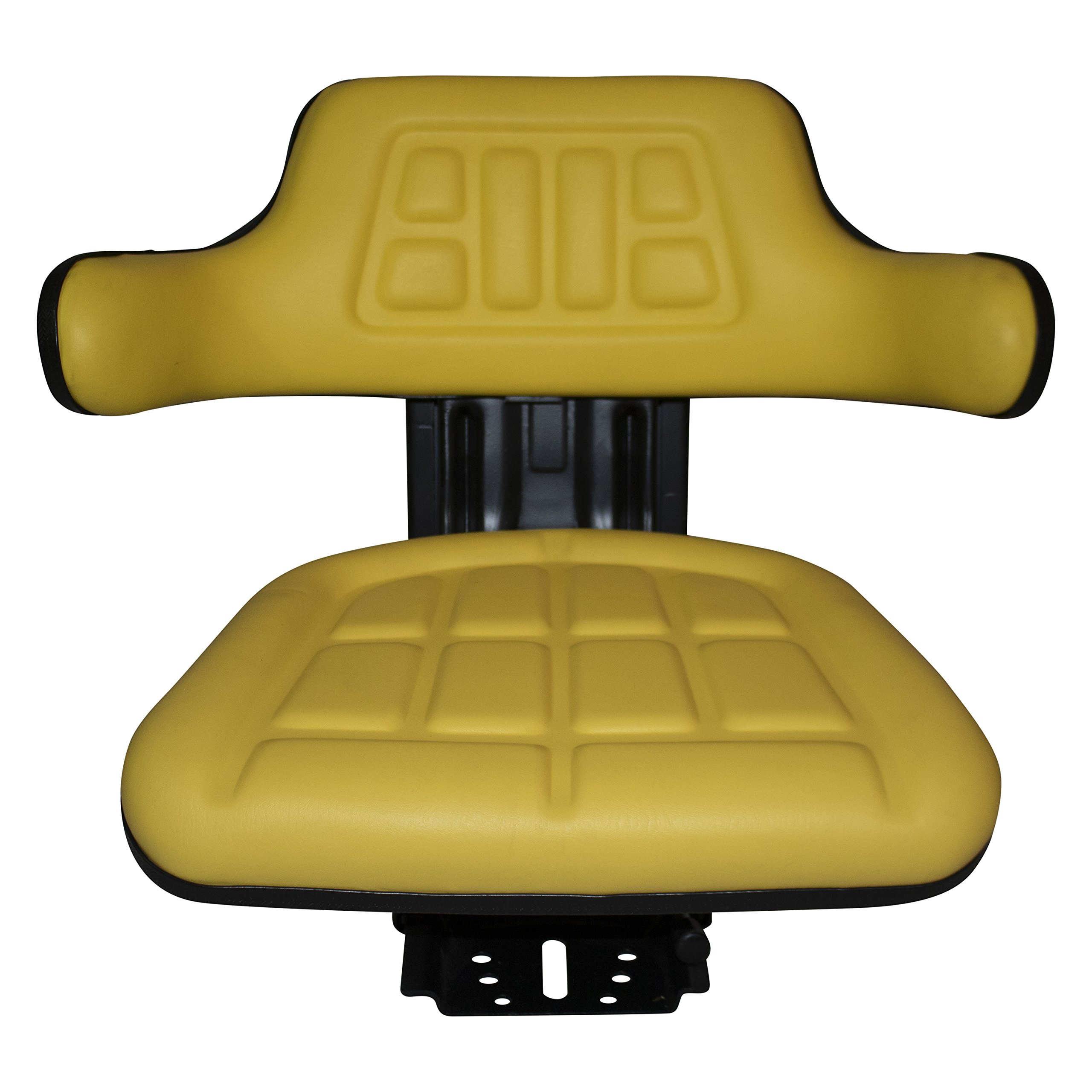 Yellow TRAC SEATS Brand Waffle Style Universal Tractor Suspension SEAT with TILT FITS John Deere 2140 2150 2155 2240 2255 5310 5400 6110