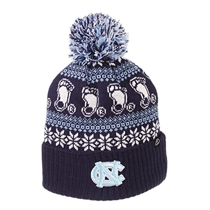 1174ff056addf Image Unavailable. Image not available for. Color: North Carolina Tar Heels Official  NCAA Carousel Cuffed Knit Beanie Sock Hat by Zephyr 694725