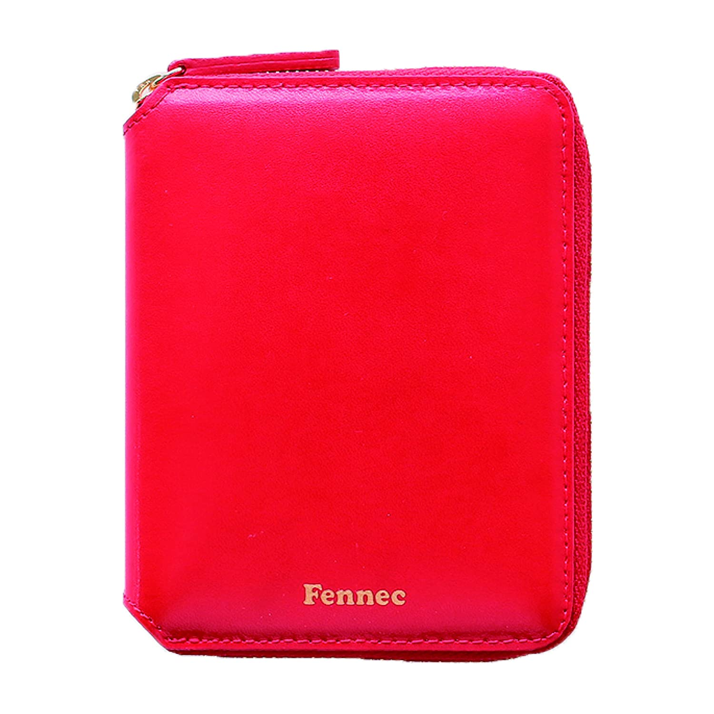 Fennec Zipper Wallet 2 フェネック 二つ折り財布 レディース レザー コンパクト財布 韓国 韓国ファッション 【Fennec Official】 B07DN44YBW レッド レッド