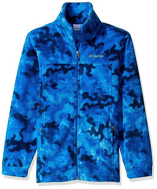 c7cadf398 Columbia Little Boys' Zing lll Fleece Jacket, Marine Blue Camo, XX-Small