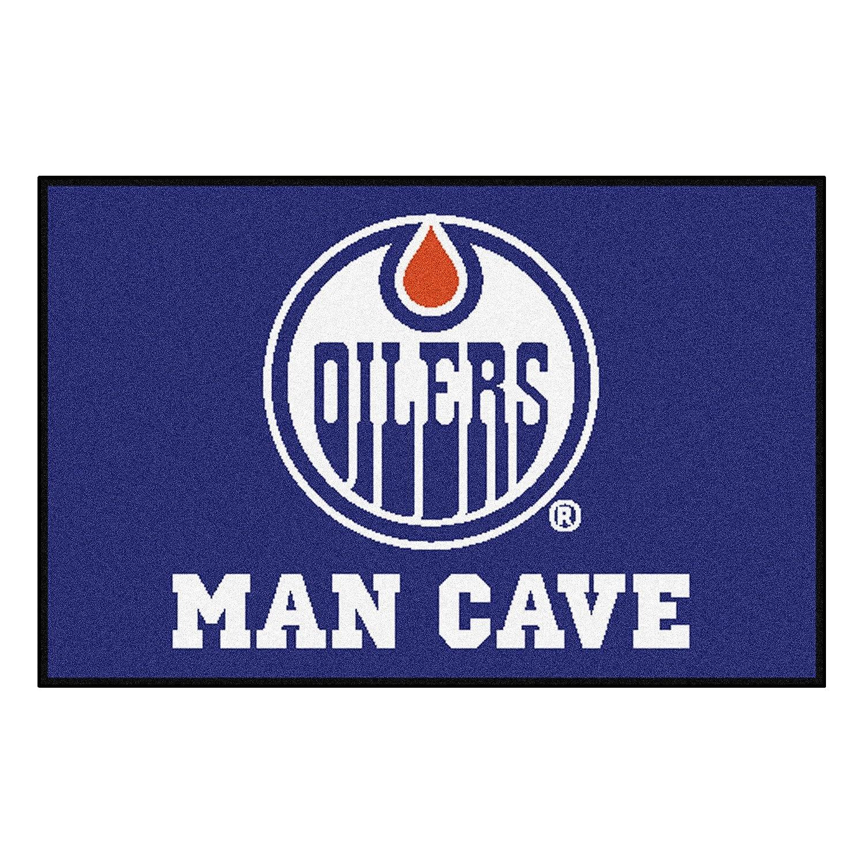 FANMATS 14430 NHL Edmonton Oilers Nylon Universal Man Cave Starter Rug