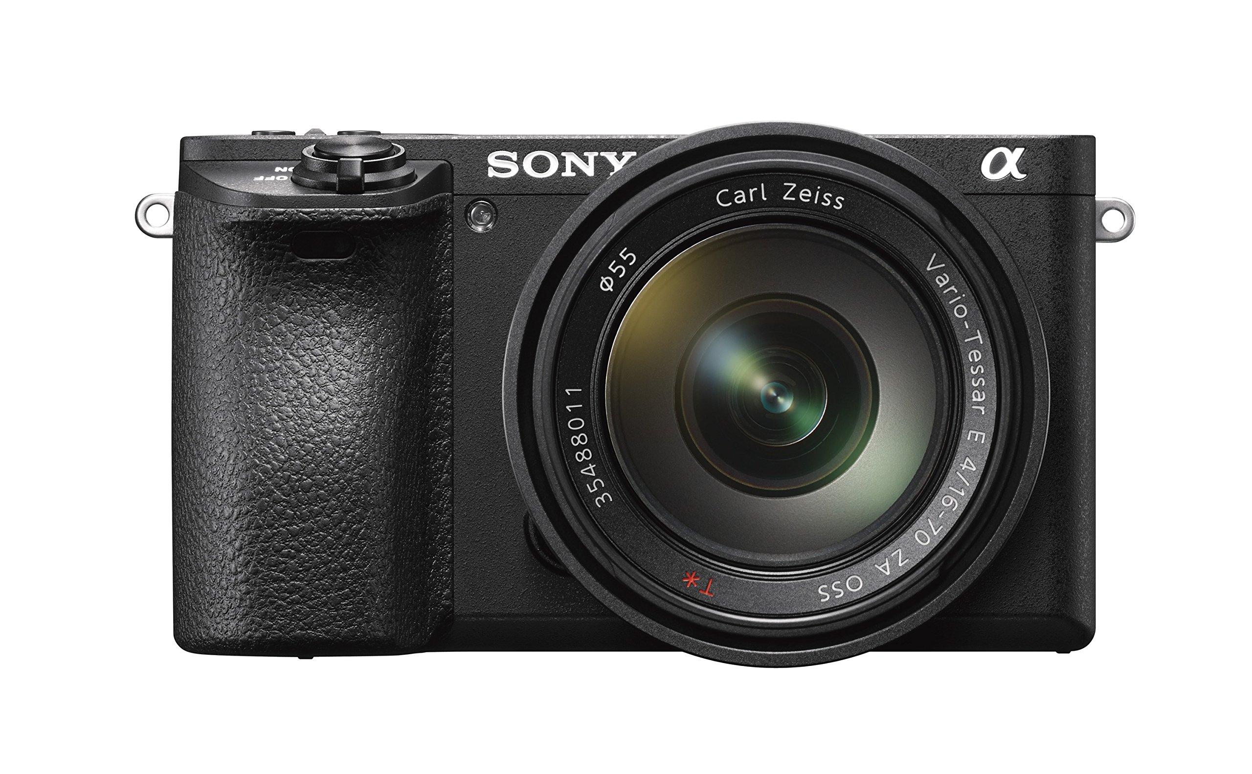 Sony Alpha 6500 Kit Fotocamera Digitale Mirrorless Compatta con Obiettivo Intercambiabile SEL 16-70 mm Zeiss, Sensore APS-C CMOS Exmor HD da 24.2 MP, 425 pt Fast Hybrid AF 11 fps, Nero product image