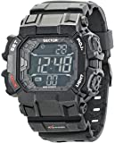 Sector Men's Digital Watch with LCD Dial Digital Display and Blue PU Strap R3251172921