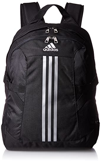a7bfe26812 adidas Power II Polyester Backpack (Black Silver)  Amazon.in  Sports ...