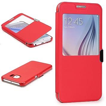 Urcover® Funda Compatible con Samsung Galaxy S7 Edge S-View Carcasa con Tapa Libro Cierre magnetico, Billetera Wallet Case protección Pantalla con ...