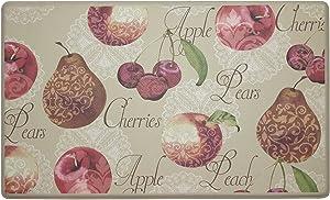 Creative Home Ideas Kitchen Mat, 18x30, Elegant Fruit