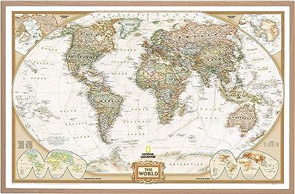 Cartina Mondo National Geographic.National Geographic Planisfero In Sughero Con 100 Aghi 90 X 60 Cm Amazon It Cancelleria E Prodotti Per Ufficio