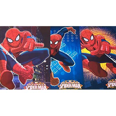 Tri-coastal Design Marvel Ultimate Spiderman Folder 3 Pack ~ Spidey Hanging Loose, Spidey Out of The Flames, Spiderman Kick Punch: Toys & Games