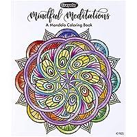 CRAYOLA Mandala Libro para Colorear, Meditaciones concientes, 40 páginas para Colorear Premium, Regalo, Multicolor