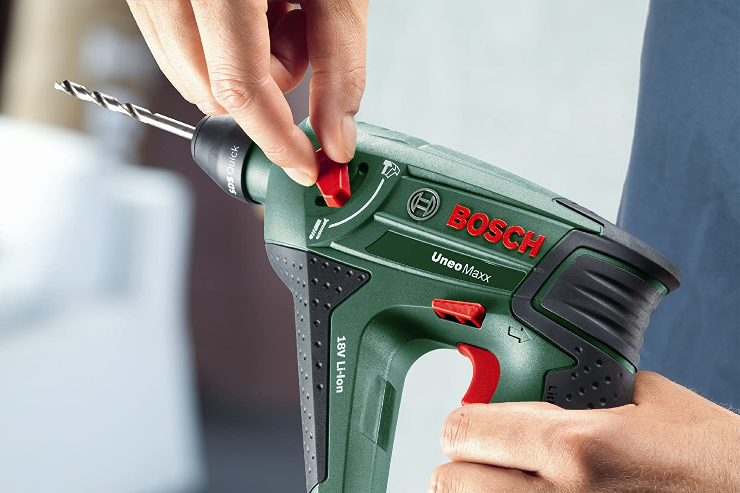 Bosch Uneo Maxx Cordless Lithium-Ion Pneumatic Rotary Hammer with 1 x 18 V  Battery, 1.5 Ah: Amazon.co.uk: DIY & Tools