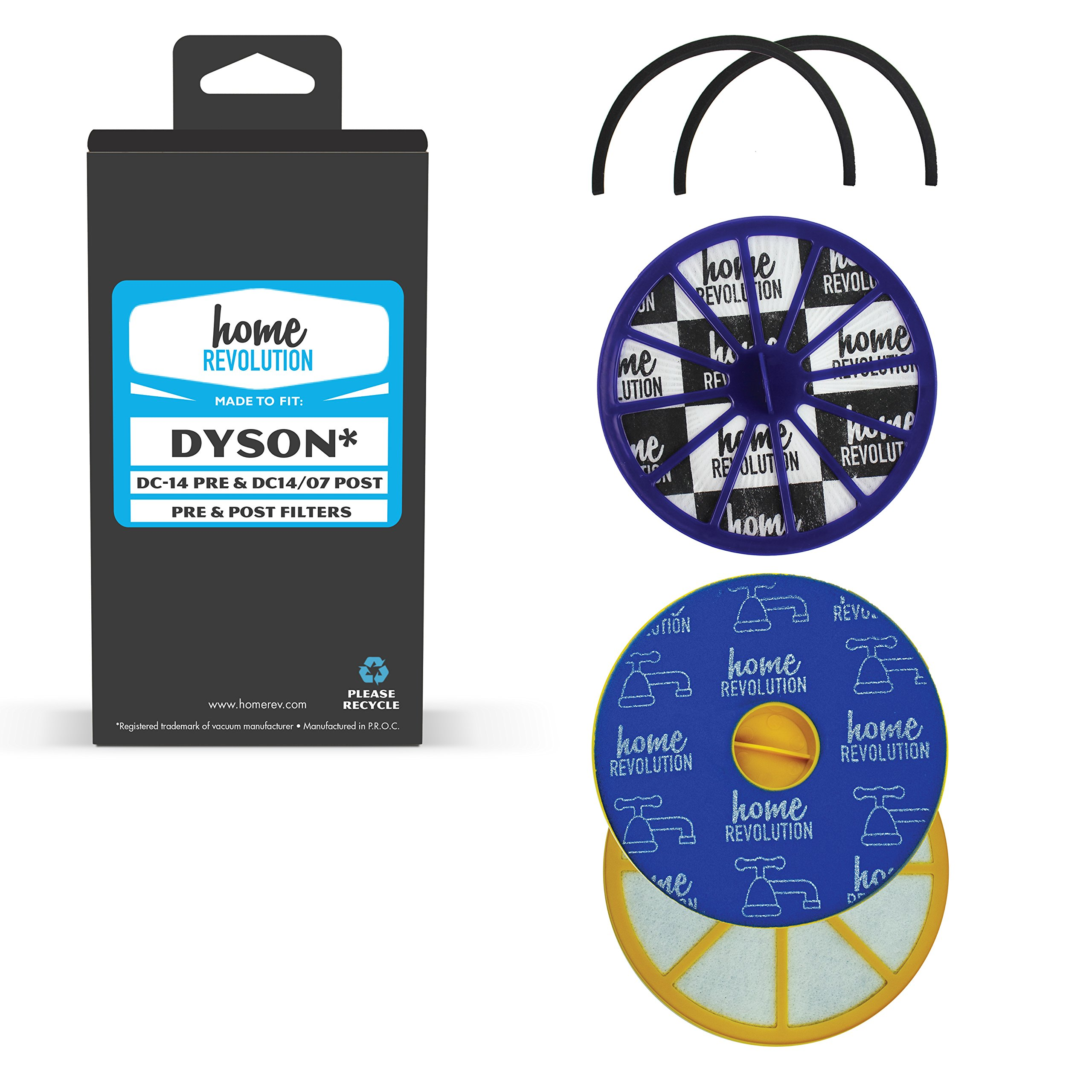 Home Revolution Pre & Post Motor HEPA Filters, Fits Dyson DC14 Animal Cyclone & All Floors Upright Bagless Vacuum Cleaner Models