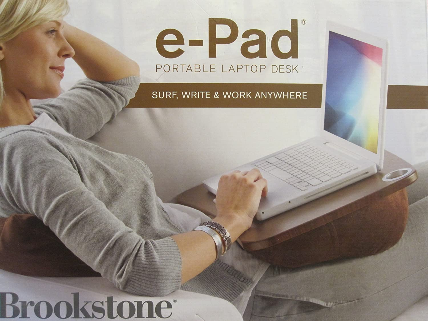 Amazon Com Brookstone E Pad Portable Lap Desk Gray