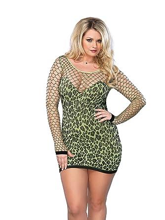 Amazon Leg Avenue Womens Plus Size Seamless Leopard Print Mini