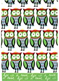 MUkitchen 100% Cotton Oversized Designer Kitchen Towel, 20 by 30-Inches, Life is a Hoot