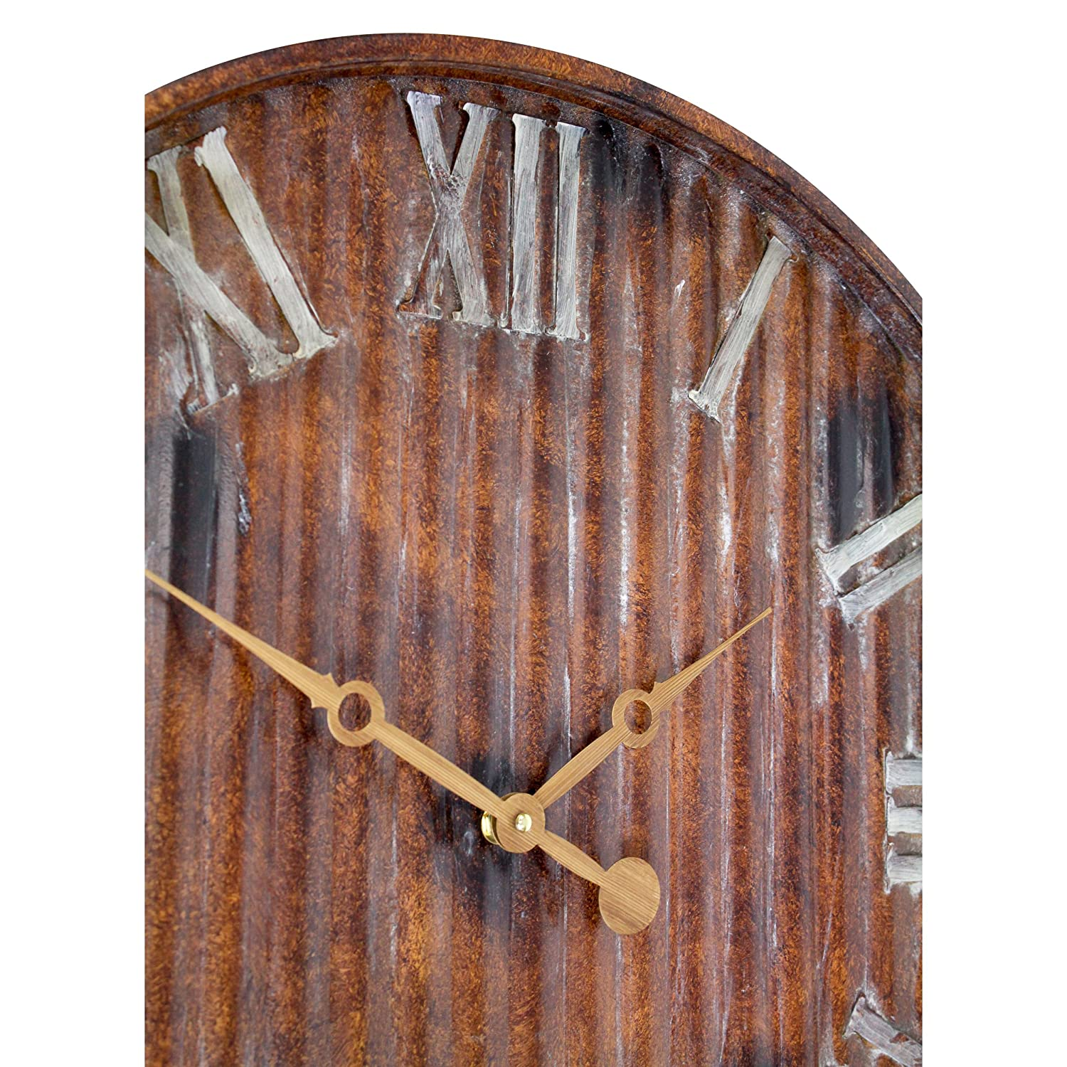 Aspire Marcelle Metal Wall Clock, Brown