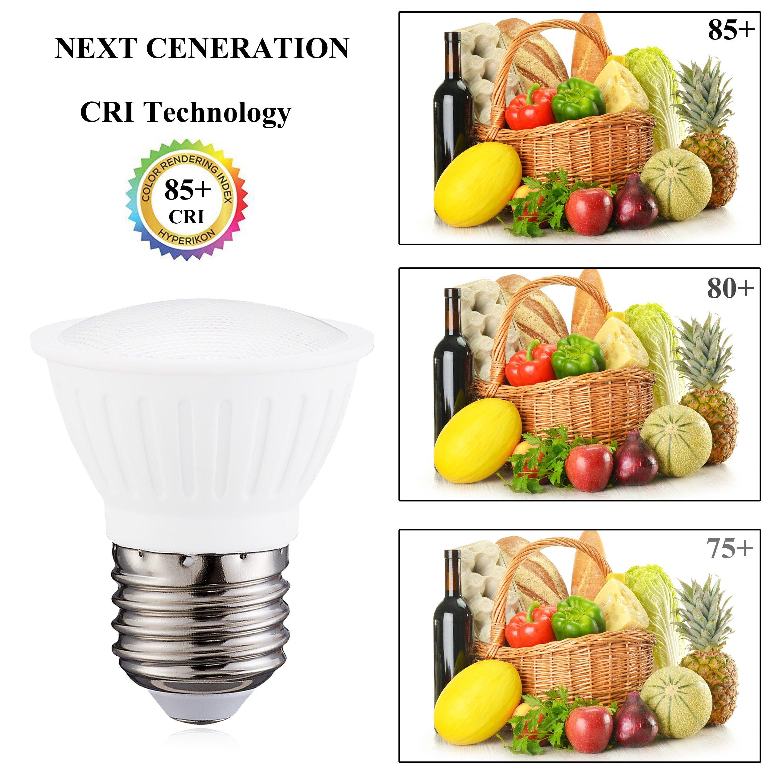 3Watt PAR16 LED Flood Bulb, 3000K Soft White, Dimmable, 120° Beam Spread, 30 watt Halogen light bulb Equivalent, 300 lumens, CRI 85+ , AC120V, E26 Medium Base for Home Display Chandelier(Pack of 6)