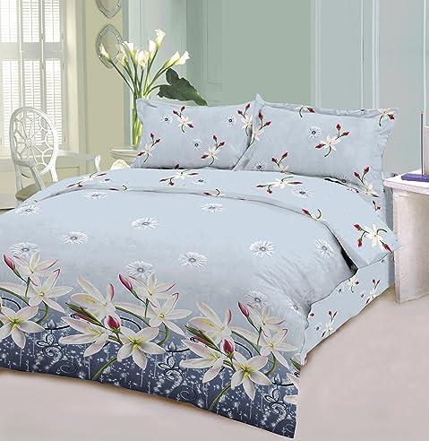 5 Teilige Bettwäsche Blumenstrauß Lys 200 X 200 Cm 100% Baumwolle Rakla  Frankreich