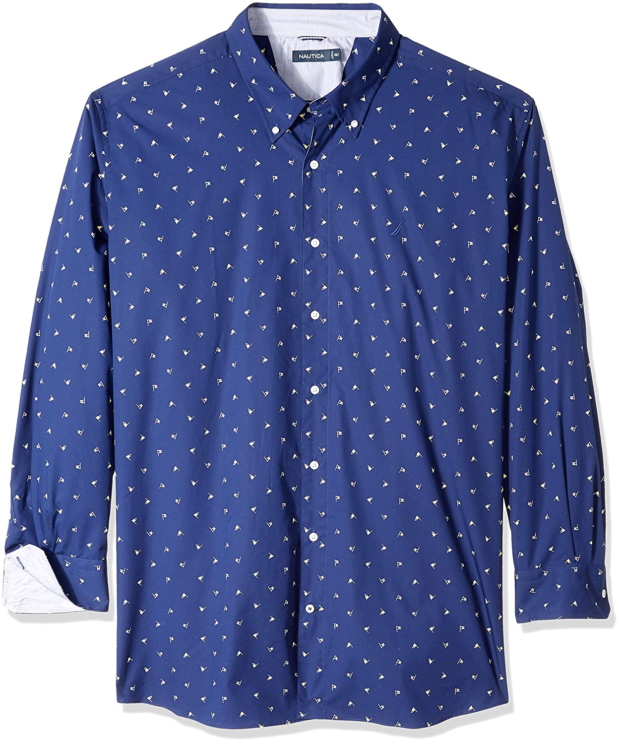 Nautica Mens Big and Tall Long Sleeve Wrinkle Resistant 100/% Cotton Button Down Shirt