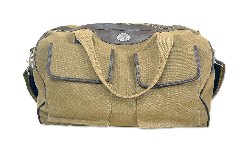 ZEP-PRO NCAA Mens Kaki Canvas Concho Duffel Bag