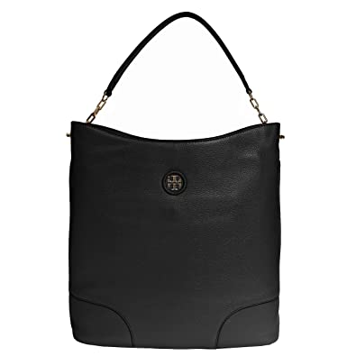 e0190a66de74 Tory Burch Tote Handbag Leather Whipstitch Black One Handle  Handbags   Amazon.com
