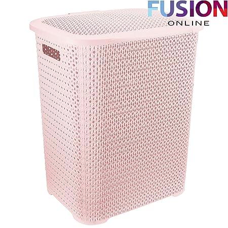 Pink Plastic Laundry Basket Stunning PINK LAUNDRY BASKET PLASTIC WASHING CLOTHES BIN RATTAN WOVEN STYLE