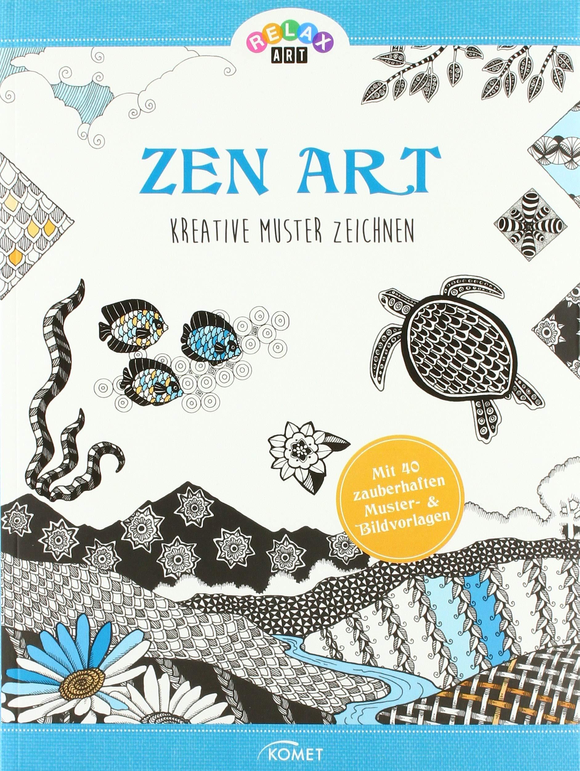 Relax Art Zen Art Kreative Muster Zeichnen Amazonde Mia