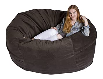 Miraculous Giant Bean Bag Chairs Premium Foam Filled Lounge Sac Amazon Onthecornerstone Fun Painted Chair Ideas Images Onthecornerstoneorg