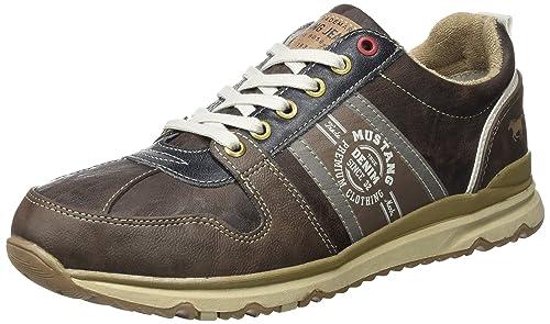 Mustang 4095-302 - Zapatillas de Sintético Hombre, Color Marrón, Talla 43 EU: Amazon.es: Zapatos y complementos