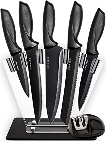 Amazon.com: Kitchen Knives Knife Set with Stand - Plus ...