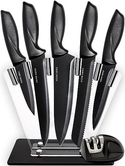 Chef Knife Set Knives Set   Kitchen Knives Knife Set With Stand   Plus  Professional Knife