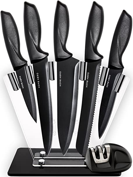 Amazon chef knife set knives set kitchen knives knife set chef knife set knives set kitchen knives knife set with stand plus professional knife teraionfo