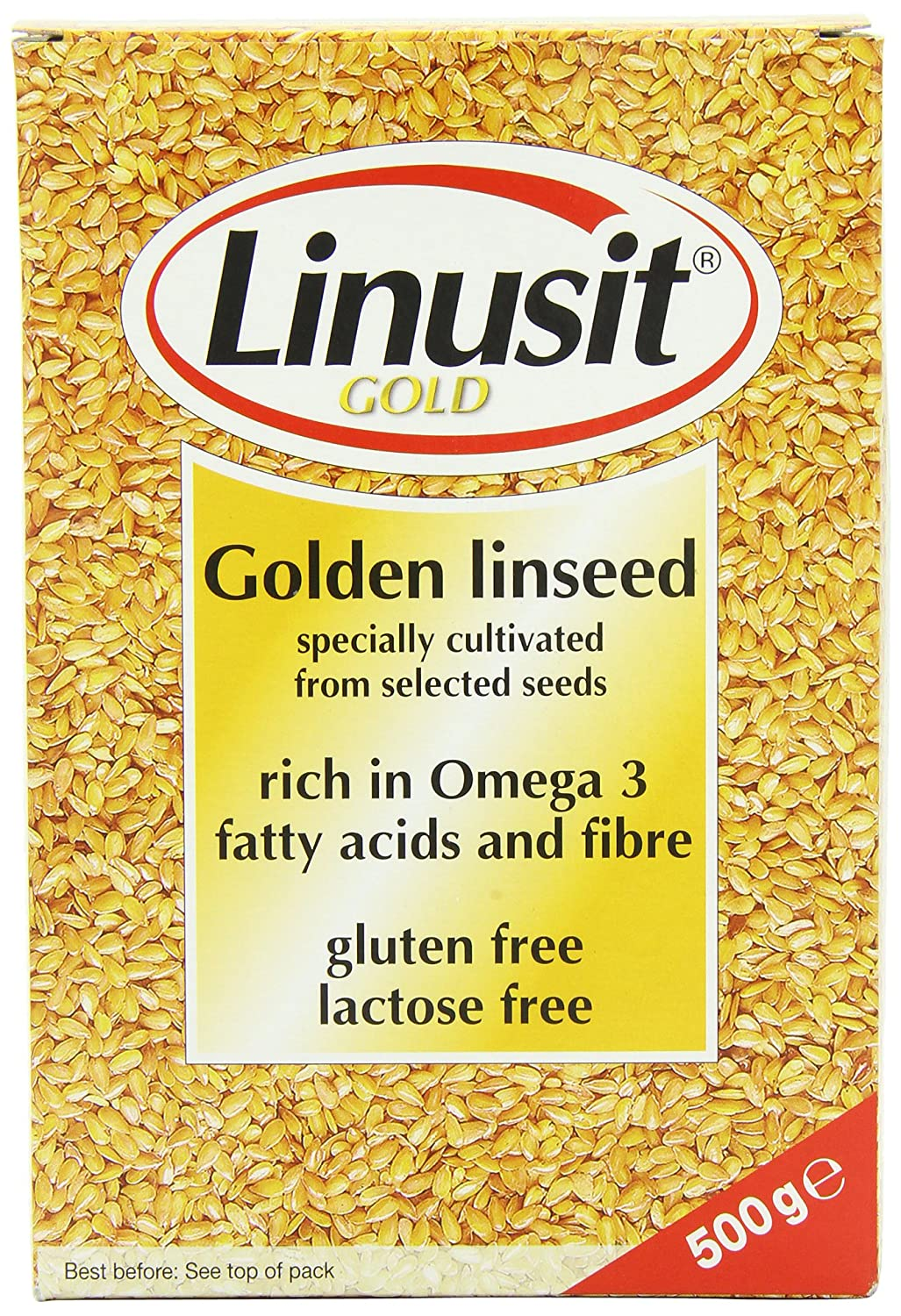 Linusit Gold Golden - Lino de linaza (500 g): Amazon.es ...