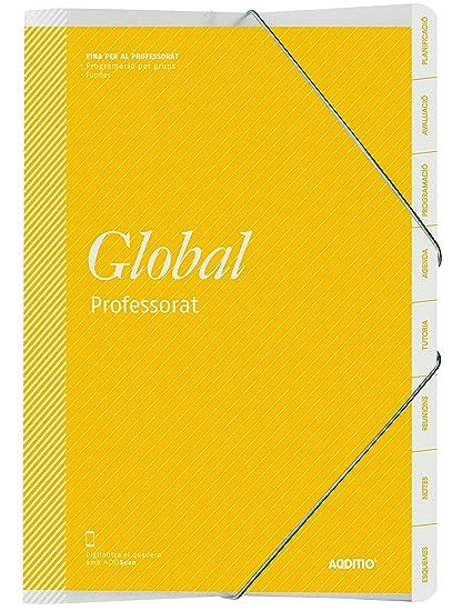 Additio P171 - Carpeta Global para el profesorado (catalán), color amarillo