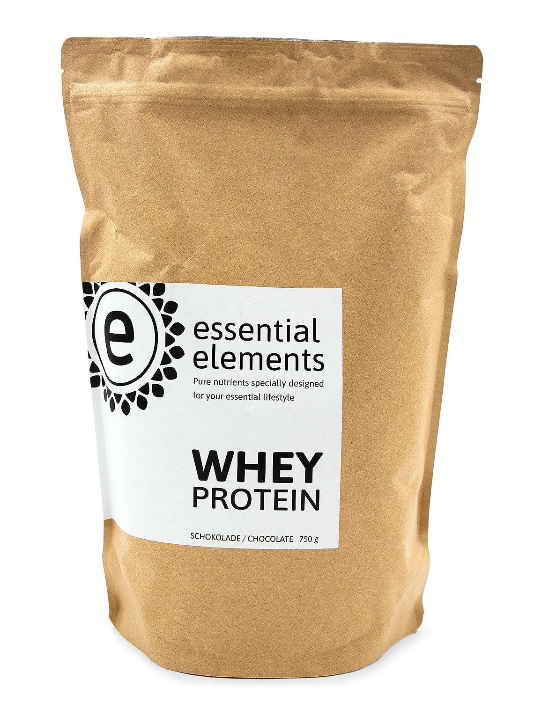 Whey proteína, 750 g, chocolate - la alternativa de proteína en polvo baja en carbohidratos para una nutrición saludable en el medio - hecho en Alemania: ...