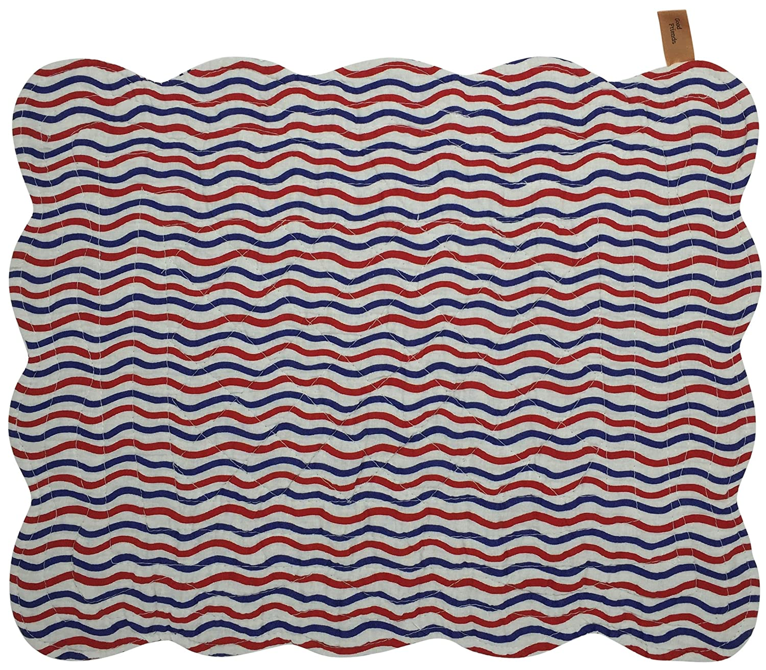 18x13 Red White 18x13 Great Finds Sparky Fireworks Reversible Quilted Cotton Placemats 0255PM Set of 4