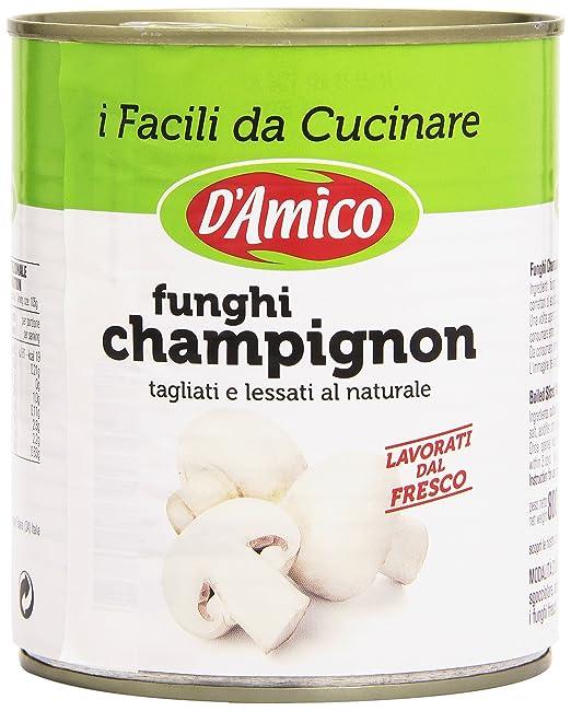 4 opinioni per D'Amico- Funghi Champignon, Tagliati e Lessati al Naturale- 4 pezzi da 800 g