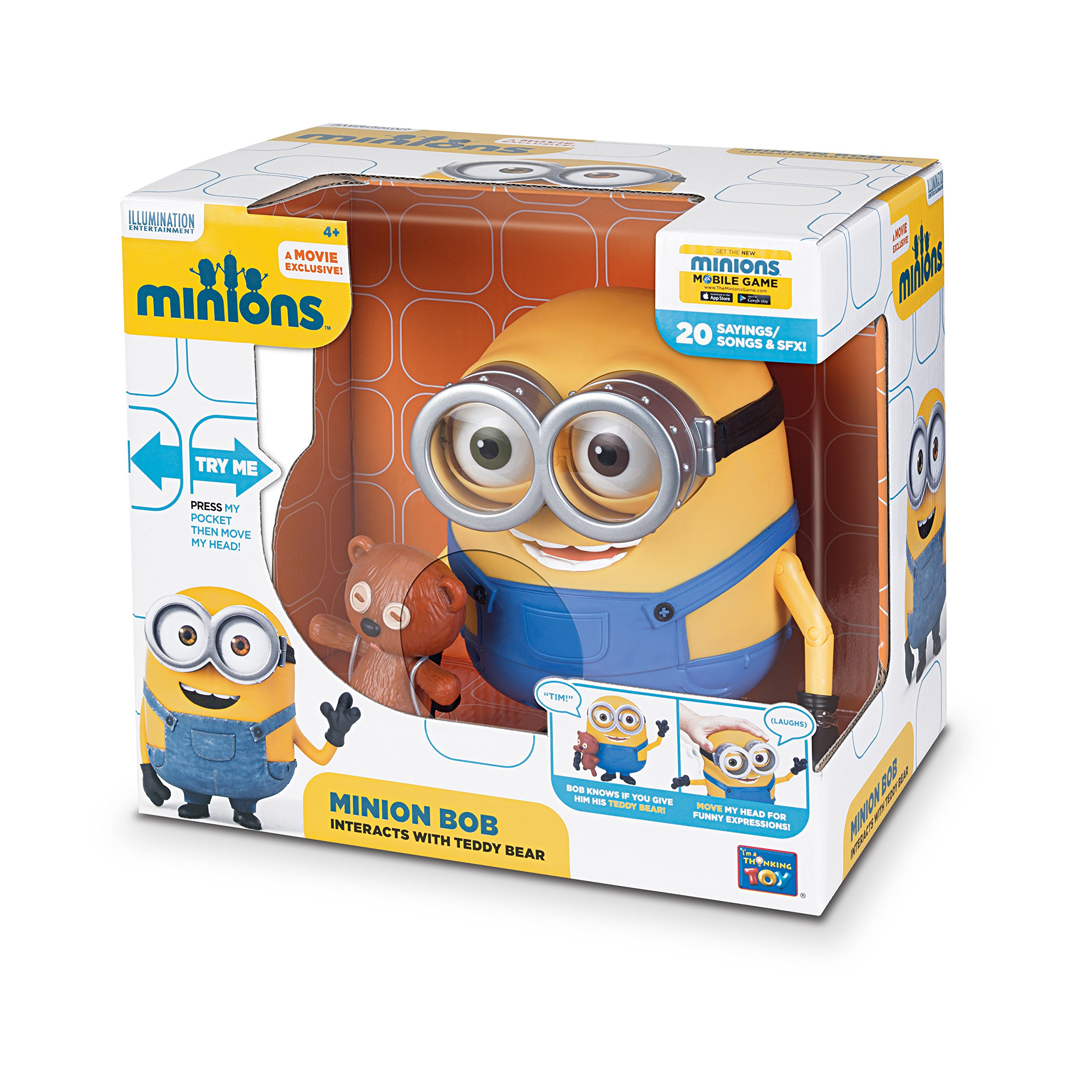 Minions Bob Interacts with Teddy Bear by Despicable Me