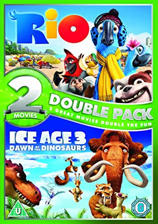 Rio Ice Age 3 Dawn Of The Dinosaurs Double Pack Dvd 2009 Amazon Co Uk Jesse Eisenberg Ray Romano Anne Hathaway Denis Leary Jamie Foxx Carlos Saldanha Mike Thurmeier Jesse Eisenberg Ray Romano Dvd