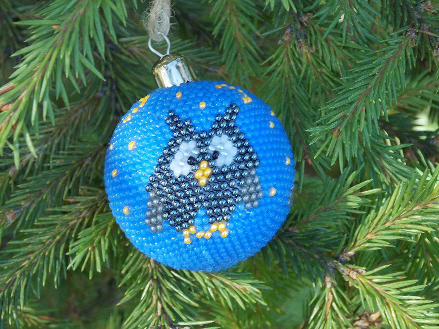 teal christmas decorations Owl decorations ornaments