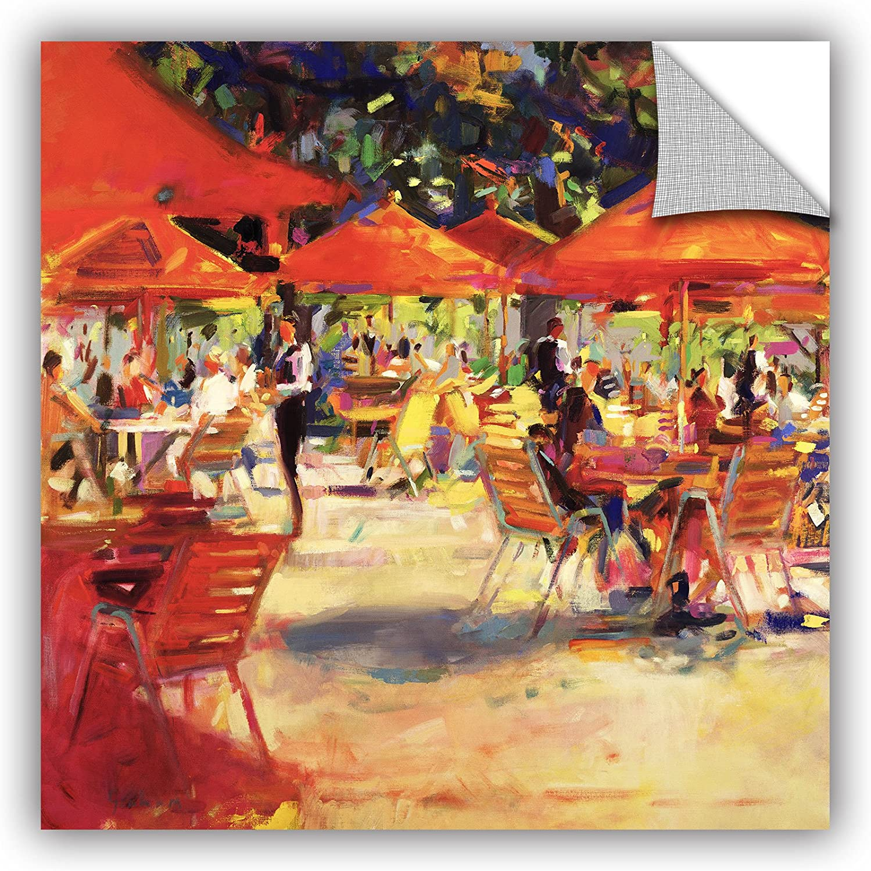 14 by 14 ArtWall Peter Grahams Le Cafe Du Jardin Art Appeelz Removable Wall Art Graphic
